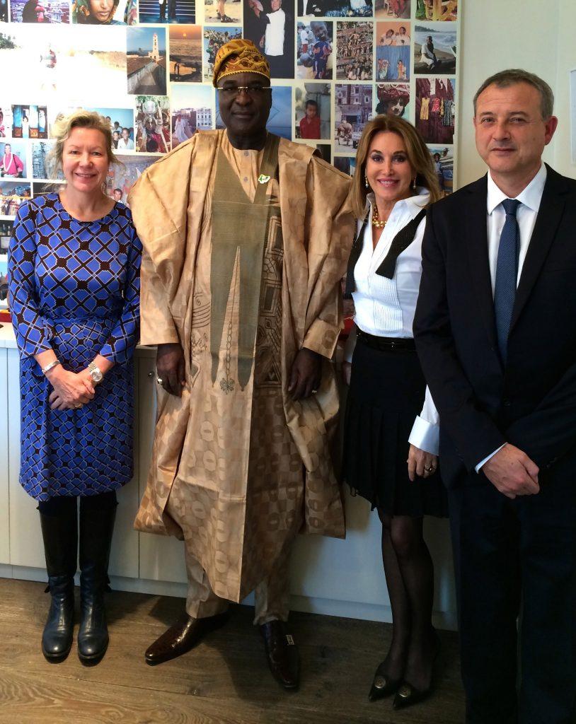 S.E. Hakkem O. Sulaiman, l'Ambassadeur du Nigeria en France en visite au siège de la Fondation Cuomo