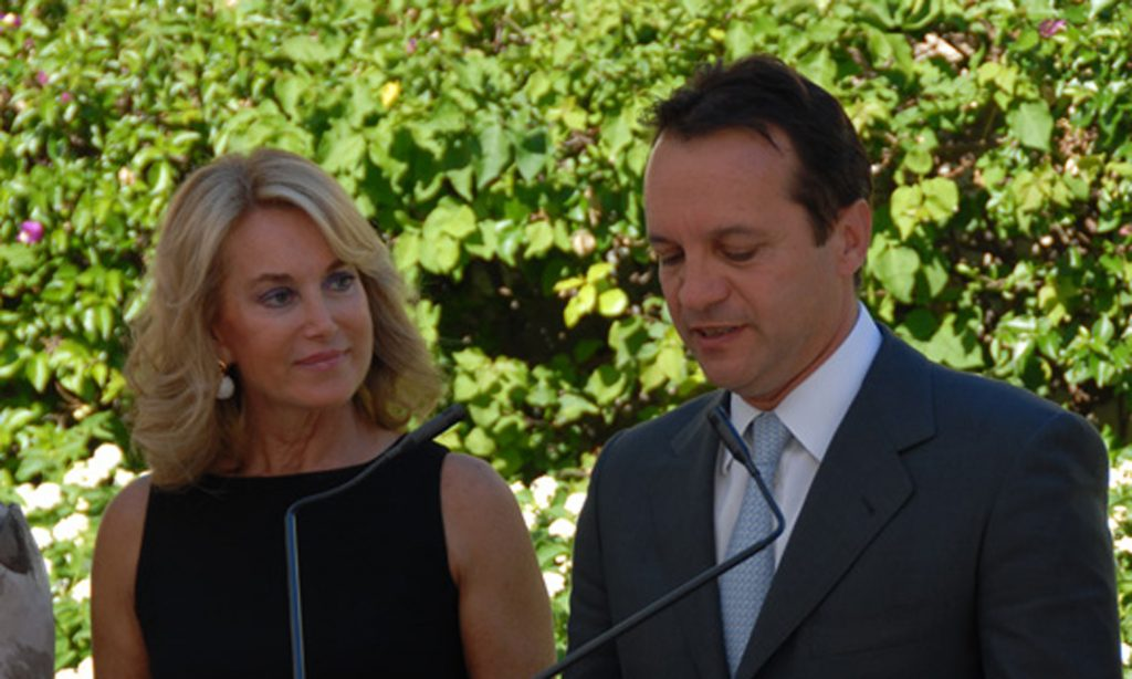 Mme Maria Elena Cuomo avec Georges Marsan, Maire de Monaco
